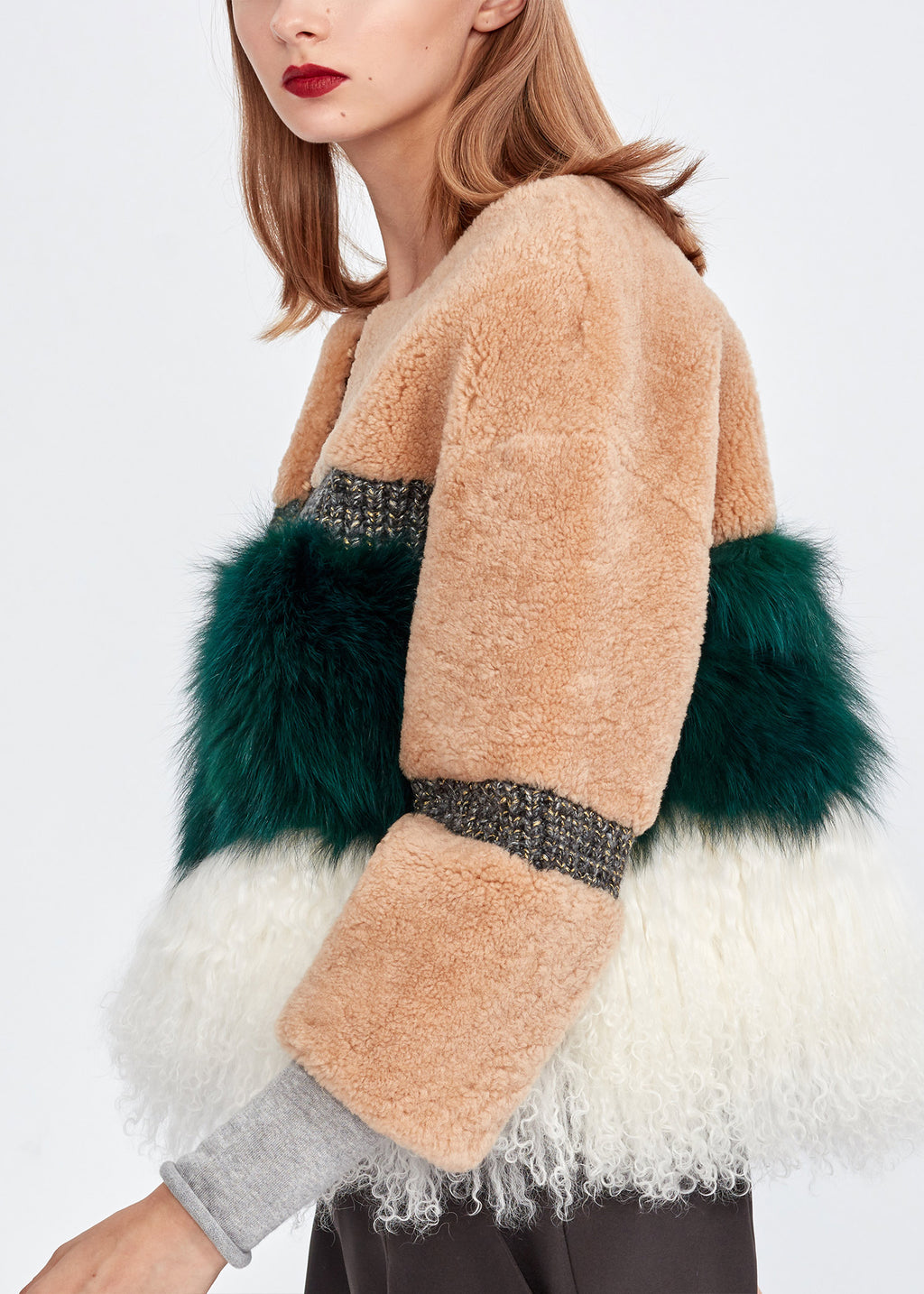 Fox Fur & Wool Jacket