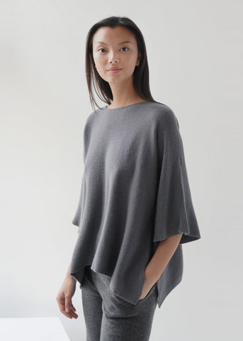 O-neck Short Sleeves Cashmere Top