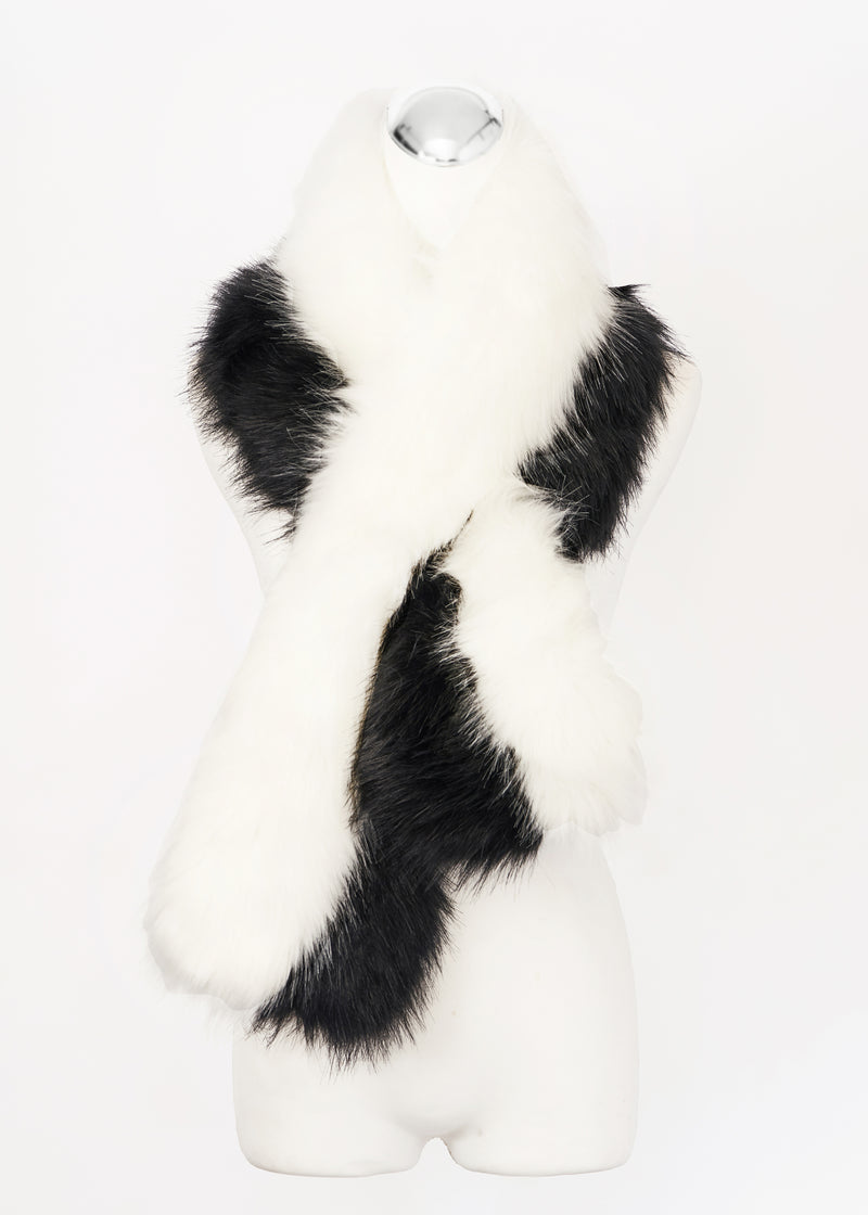 Faux Fur Scarf with Pockets