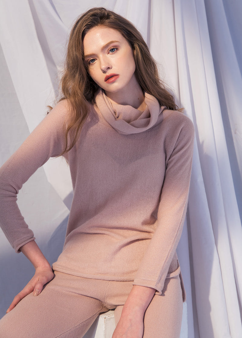 Turtleneck Cashmere Top (PINK) - S, M, L