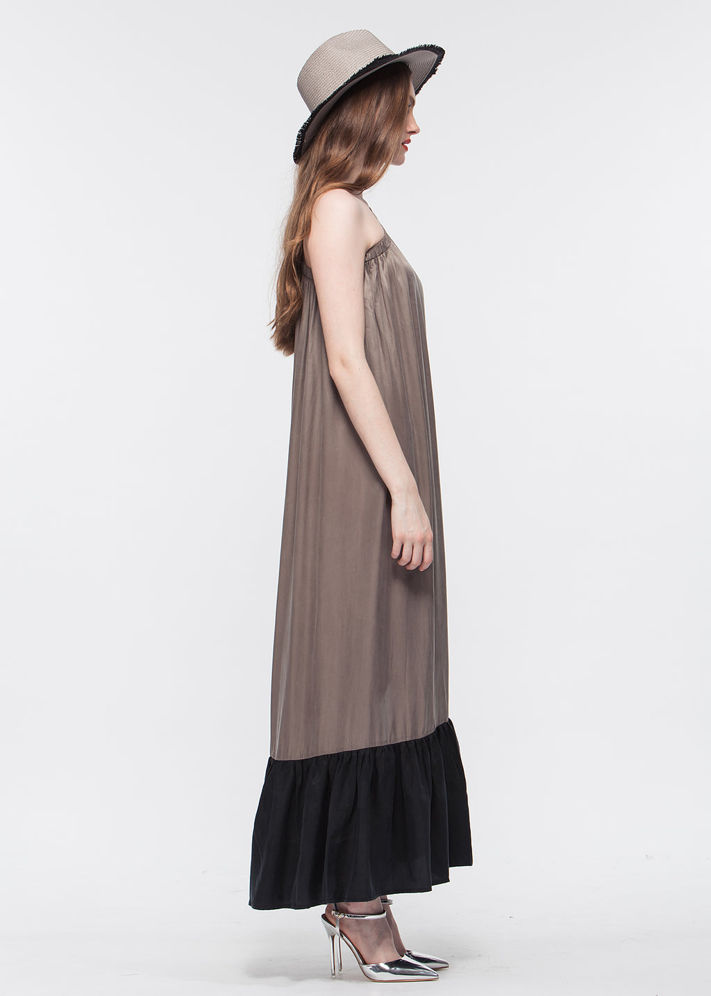 One Shoulder Split Dress
