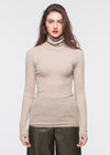 Turtleneck Cashmere Sweater (BEIGE) - M, L