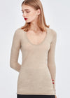 U-neck Cashmere Top