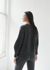 Round-Neck Balloon Arm Cashmere Sweater