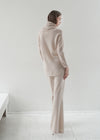Cashmere Flared Trousers (BEIGE) - S, M, L