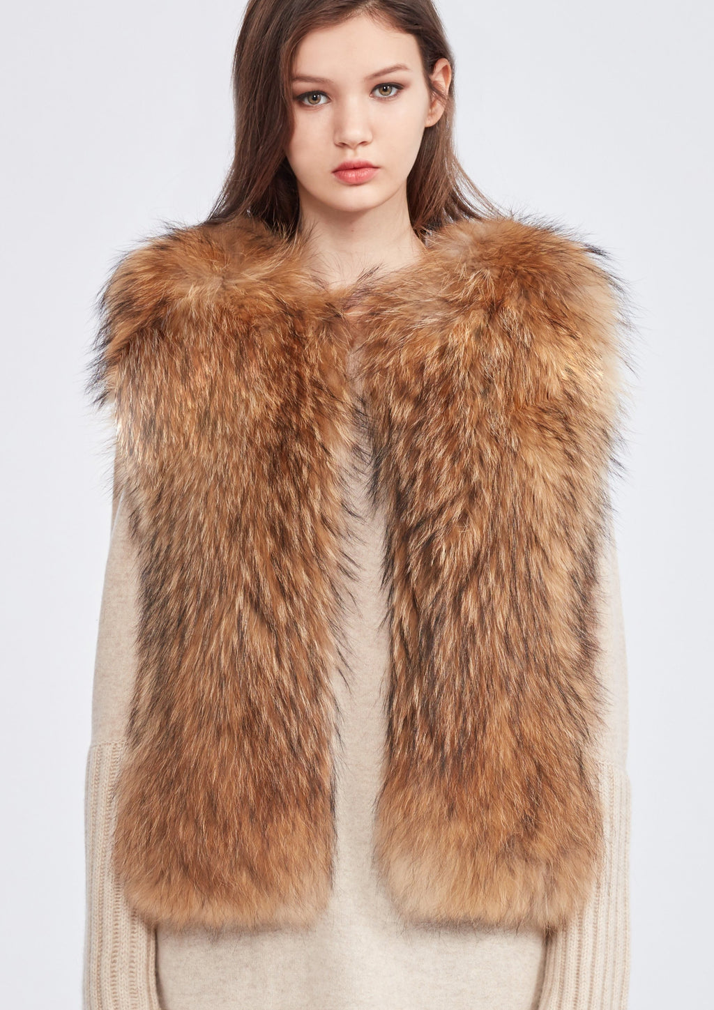 Raccoon Fur Cashmere Vest