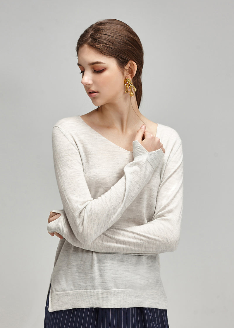 Turtleneck Cashmere Vest with Detachable Faux Fur