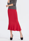 Irregular shape tied long skirt