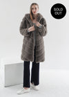 Faux Fur Knee-length Vest