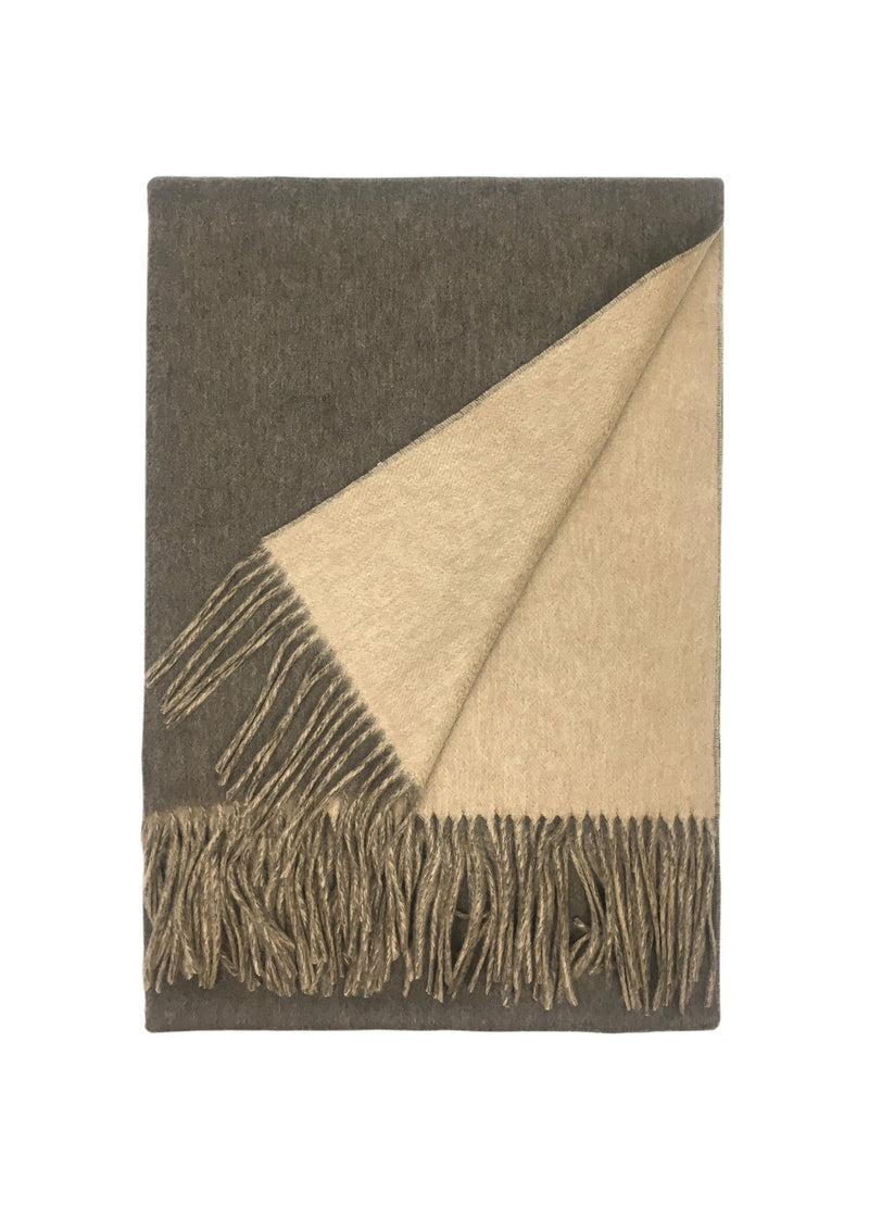 Tassel Double Sided Cashmere Scarf
