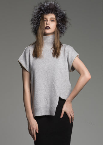 Turtle Neck Jumbo Sleeve Cashmere Sweater