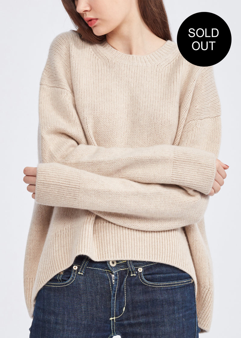 Round-neck Oversized Cashmere Sweater