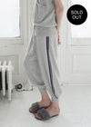 Cashmere Side Slit Flared Trousers