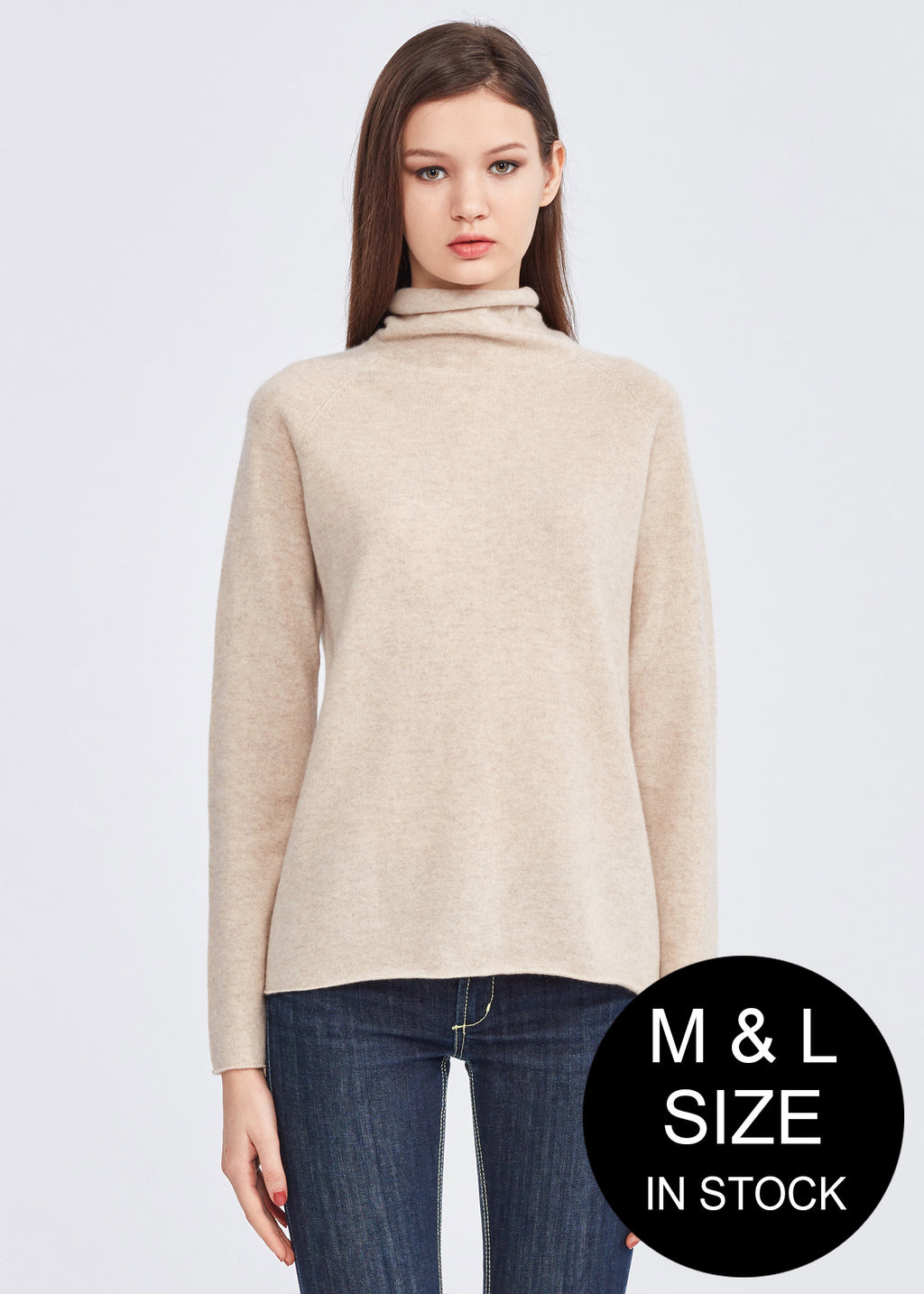 Turtle Neck Loose Fit Cashmere Sweater