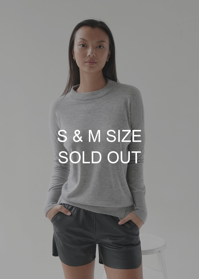 O-neck Long Sleeves Cashmere Top