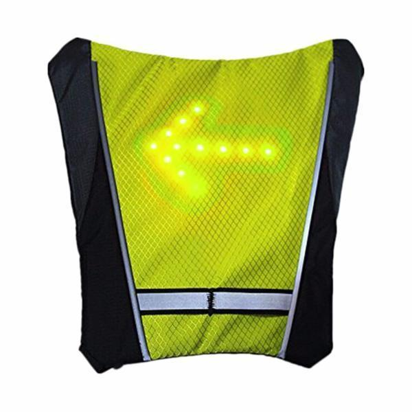 Bicycle Accessories Practical Bicycle Backbag Led Wireless Cycling Vest Safety Bag Led Turn Signal Light Bike Bag Vest Bicycle Reflective Warning Vests Bicycle Light