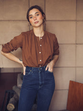 MILLE - Florian Top in Camel Organic Cotton