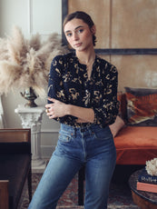 MILLE - Florian Top in Swiss Dot Floral
