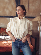 MILLE - Genevieve Top in Butter