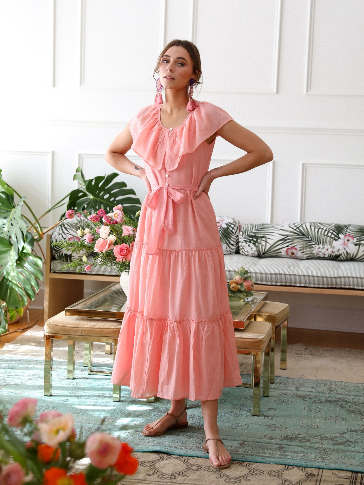 MILLE - Mira Dress in Candlelight Peach