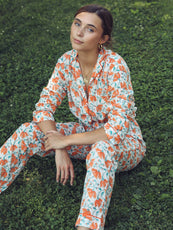 MILLE - Rosalind Pajamas in Orange Pinwheel