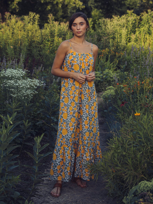 MILLE - Sienna Maxi Dress in Marigold Print
