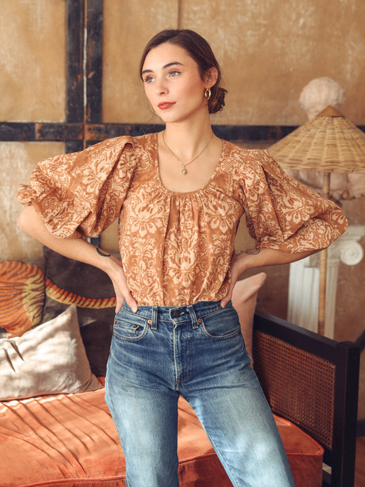 MILLE - Viva Top in Almond Baroque