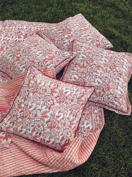 MILLE - Pillowcase Set in Peach Floral