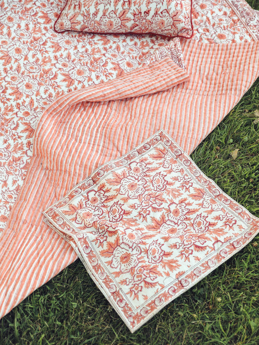 MILLE - Napkins in Peach Floral