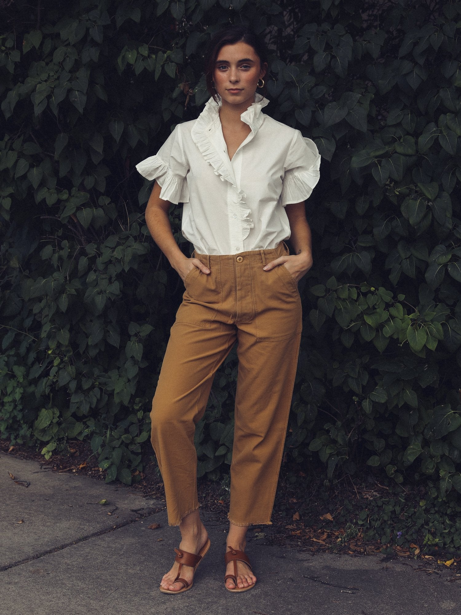 MILLE - Inès Pant in Almond