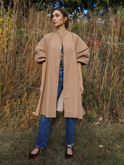 MILLE - Josephine Coat in Almond