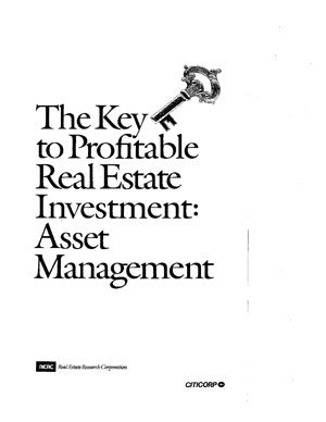The Key to Profitable Real Estate Investment (1985)