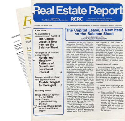 Real Estate Report - 1970s - Single Issues