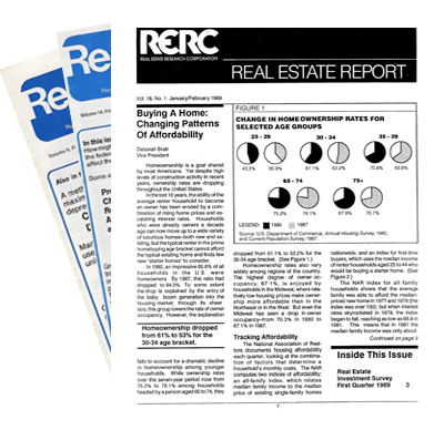 Real Estate Report - 1980s - Single Issues