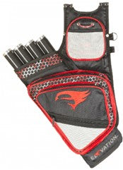 Elevation - Adrenaline Black/Red 4 Tube Quiver
