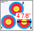 30.06 Outdoors - Paper 3 Spot Mini Targets 100/pk (8 1/2