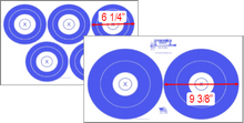 "Load image into Gallery viewer, Spyderweb - Dual Face 5+2 Spot Target 25/pk (#DF2352) 13"" x 20"""