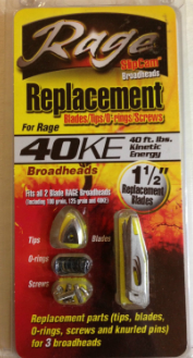 Rage - 40KE Replacement Blades/Tips/O-Rings/Screws