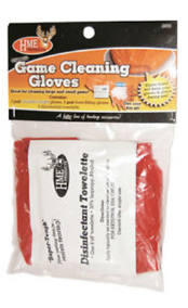 GSM Outdoors - HME Game Cleaning Gloves w/Towelette GCG