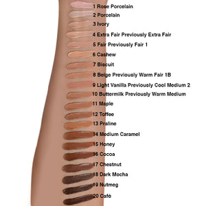 Lasting Perfection Concealer Shade Range Swatches