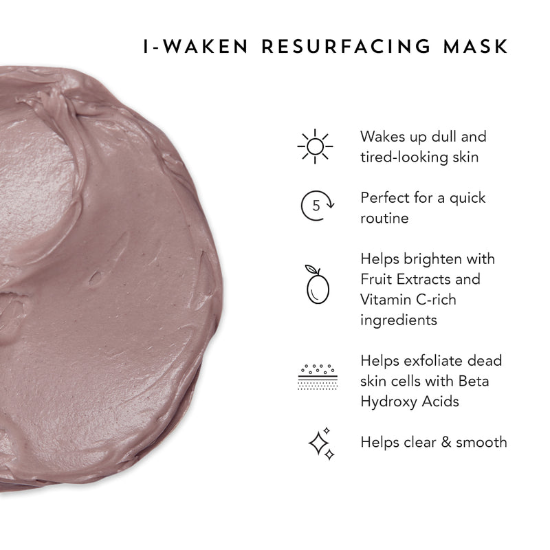Indie Lee I-Waken Resurfacing exfoliation mask for clear and smooth skin.