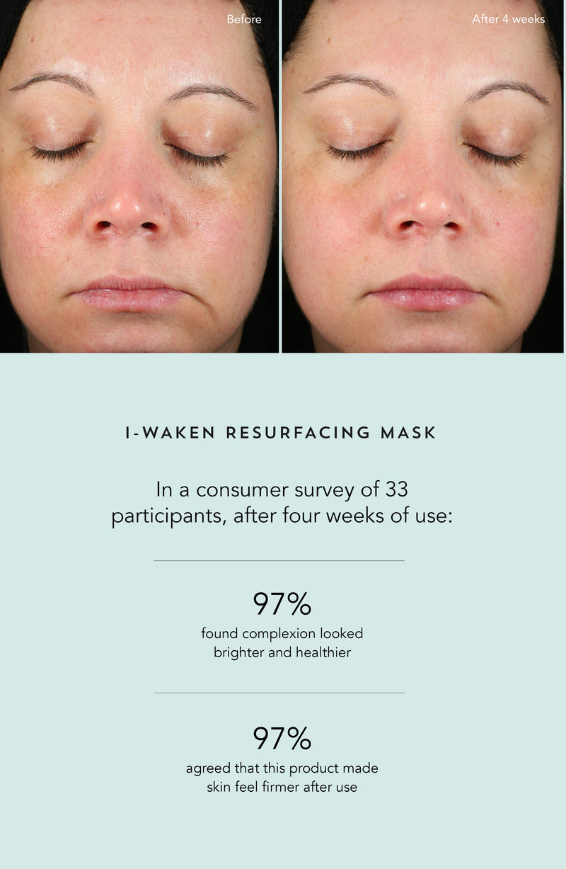 Indie Lee I-Waken Resurfacing Mask Clinical Trials Before and After