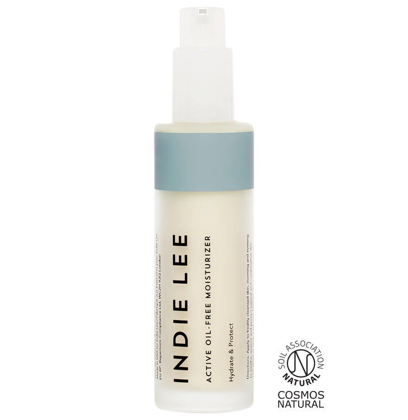 Indie Lee Active Oil-Free Moisturizer. Clean all natural skin moisturizer without oils.