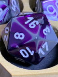 Chessex Dice Set - Gemini Purple-Steel/white