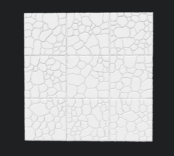Fieldstone Dungeon Floor Tile - Digital Download