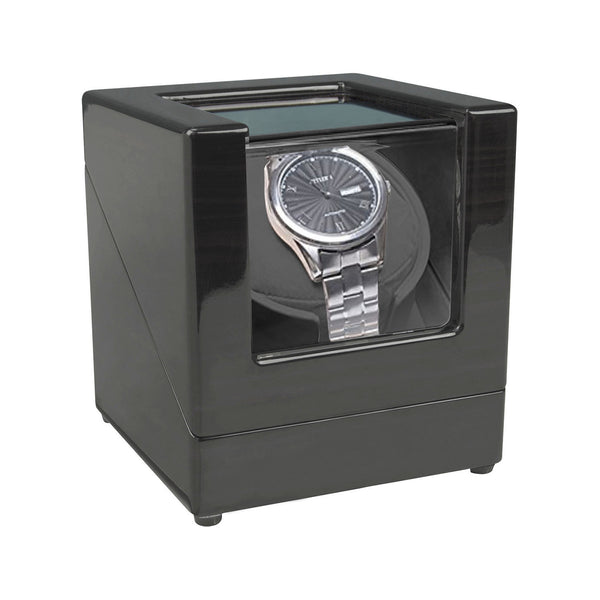 Single Watch Winder, Lacquered Wood 83104089 - mywristcheck.com