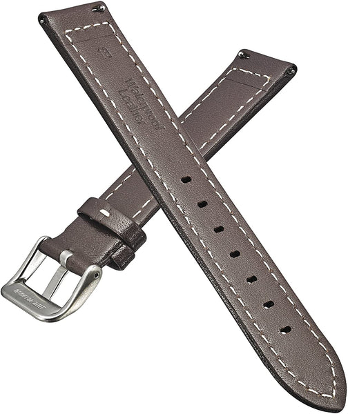 Genuine Waterproof Padded Leather Watch Band with Quick Release Spring Bars #330 - mywristcheck.com