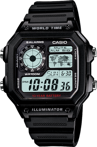 Casio World Time AE1200WH-1