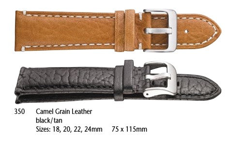 Camel grain leather with stitching #350 - mywristcheck.com