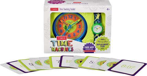 Timex Kids Analog Gecko Elastic Fabric Strap Watch Gift Set - mywristcheck.com